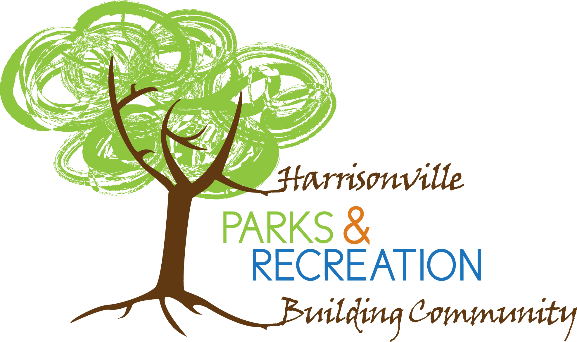Harrisonville Parks and Recreation Building Community with Tree