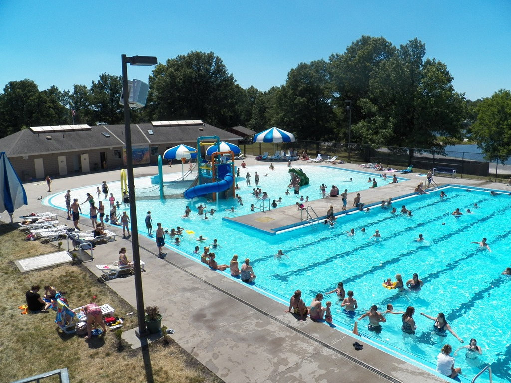 People Playing in Outdoor Pool