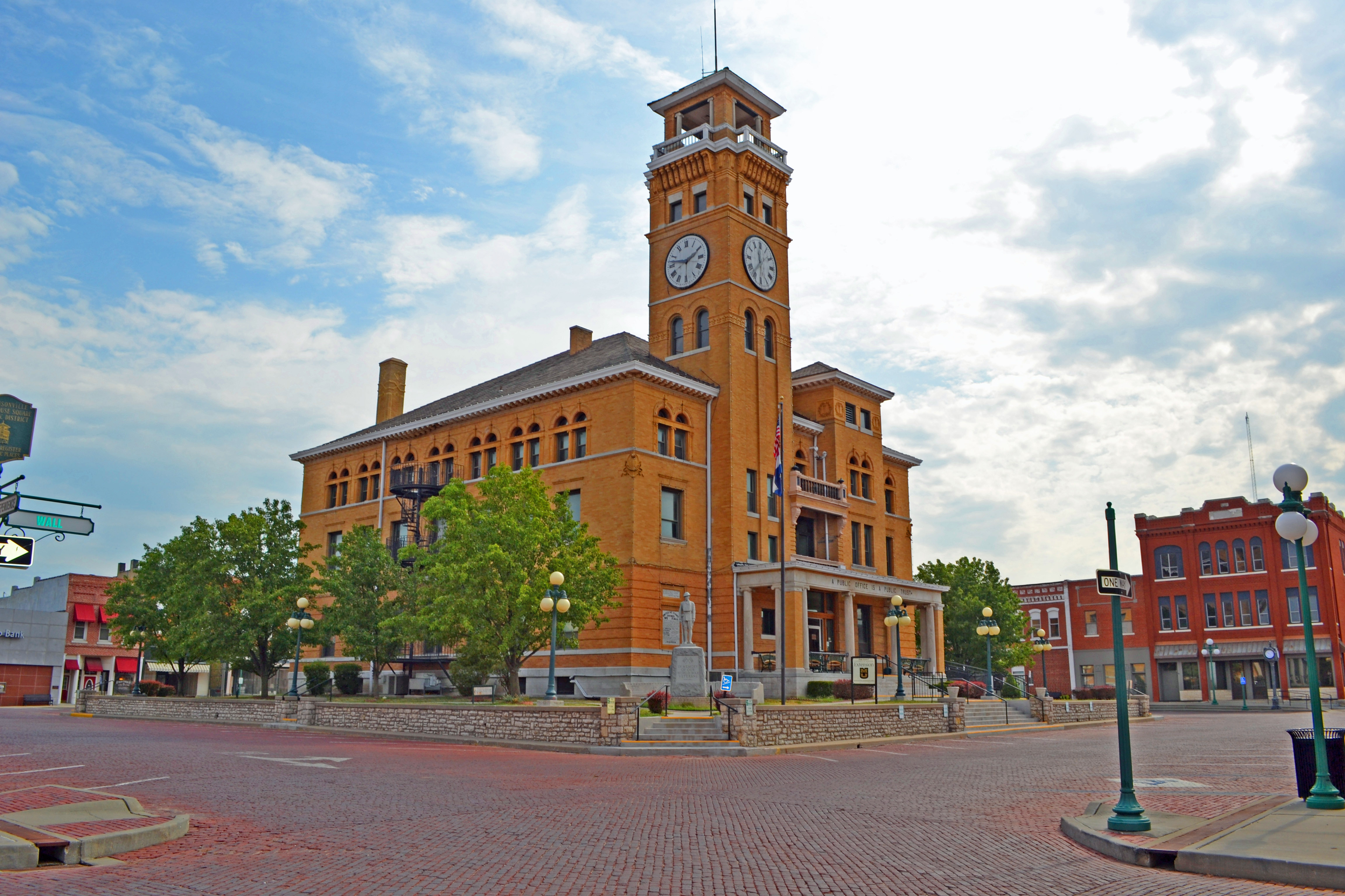 Cass County Courthouse on the Harrisonville Square.